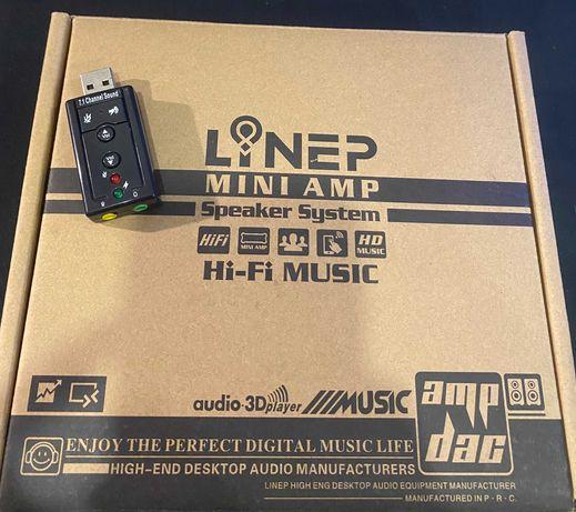 vendo Mini Amplificador + Placa de Som USB