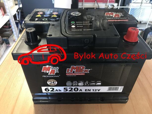 """AKUMULATOR 62AH/520A """"Moje Auto"""" NOWY!!! Prawy+ """"Bylok Auto Części"""""""