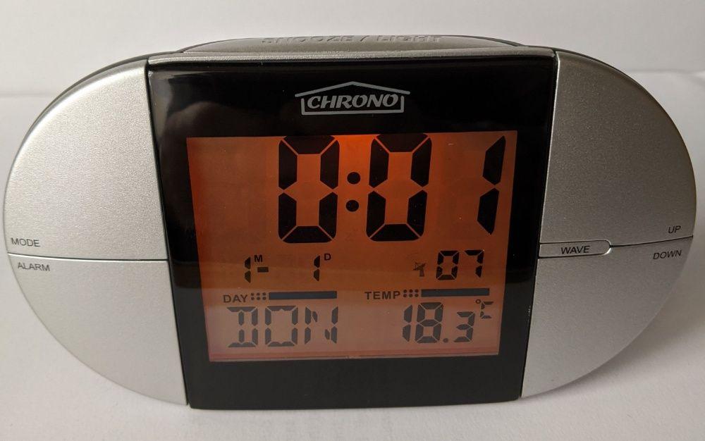 Zegar cyfrowy , sterowany radiowo DCF ,temperatura Hajnówka - image 1