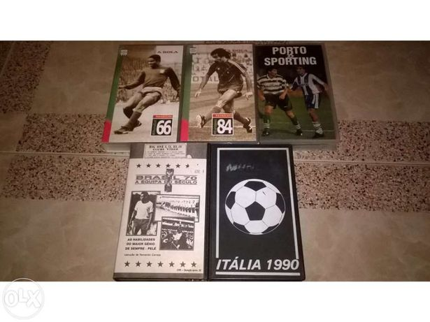 Cassetes VHS - jogos 1 lote completo