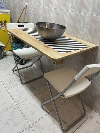 Mesa dobravel Ikea ( oferta cadeiras )