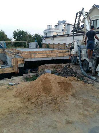 Бетонные работы. Фундамент. Усиление фундамента. Строительство домов.
