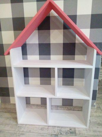 Regał domek drewniany