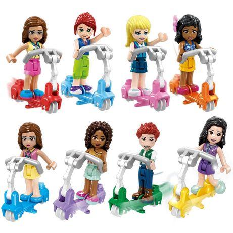 Nowe figurki friends na hulajnogach w pełni kompatybilne z Lego