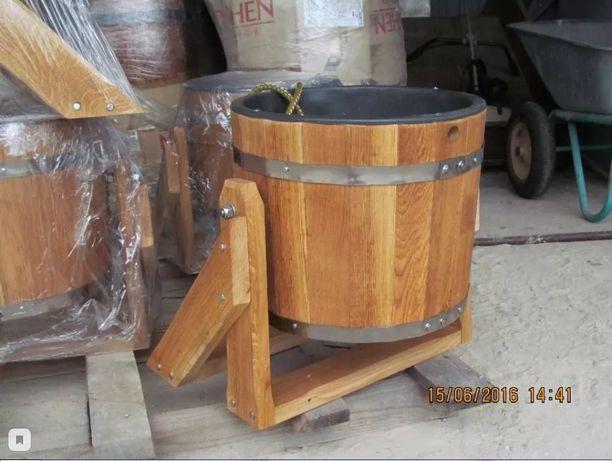 Відро-водоспад (дуб) 20л для бані сауни від Виробника!!!
