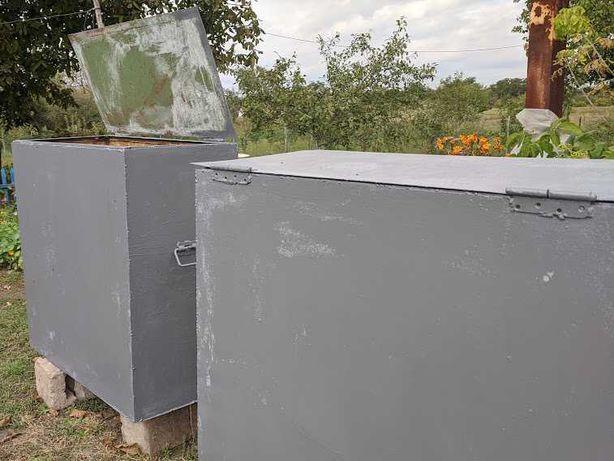 Емкости для хранения зерна с крышками 2 шт.