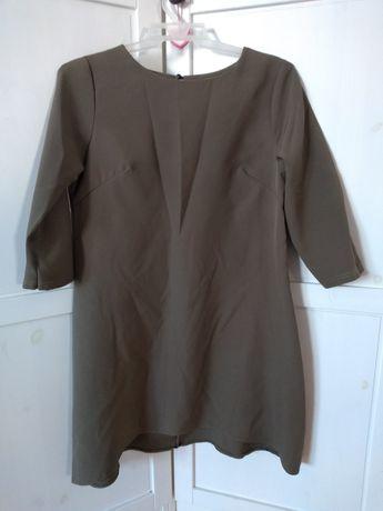 Sukienka trapezowa rozkloszowana S 36