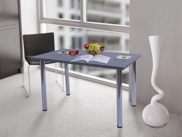 Stół kuchenny 100x60x38 Antracyt Gruby Blat Okazja!