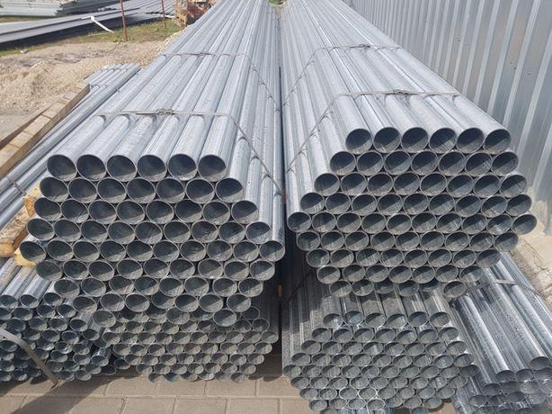 Fi 42,4x1,5mm 1 1/4'' Rury ocynk słupki ogrodzenie L6m