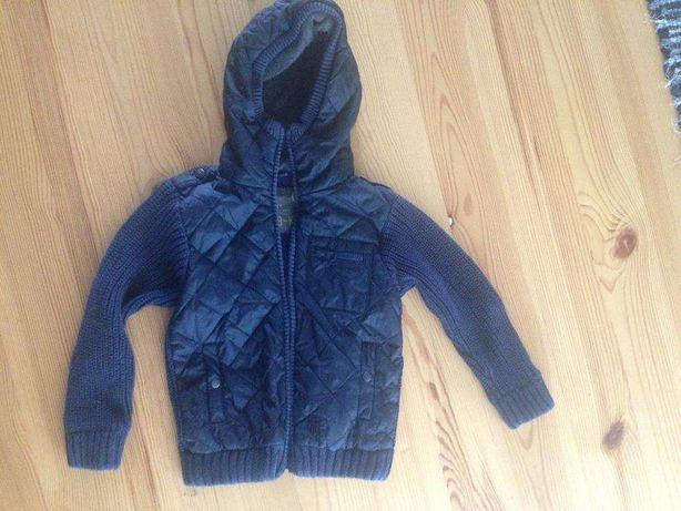 куртка кофта пальто вязаное на мальчика 3-4 года Next демисезонное
