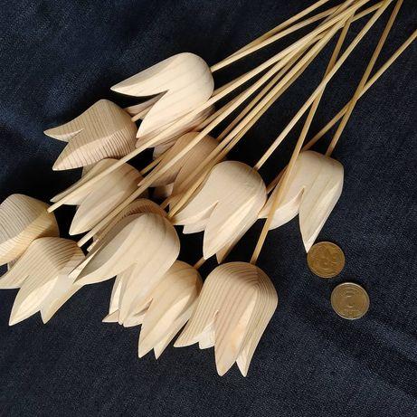 Деревянный тюльпан, заготовка для декупажа из сосны