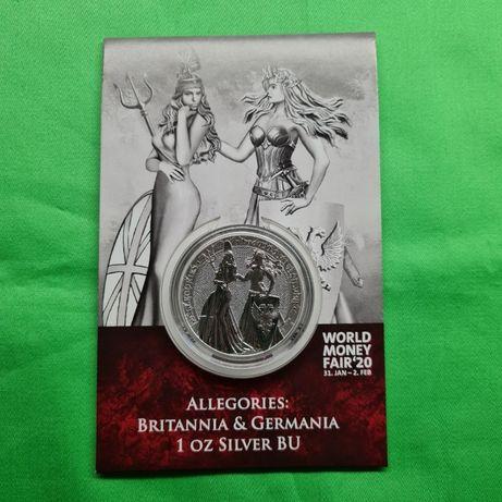 Раунд Аллегория 1-й релиз Британия и Германия Блистер Germania Mint