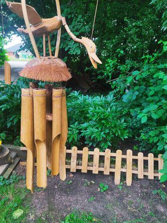 Dzwonek wietrzny nowy duży bambusowy kokos