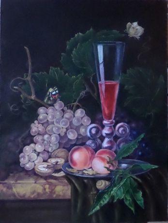 Натюрморт з виноградом 45х60 см. Олія. Авторська робота
