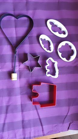 Conjunto de formas cortadores bolachas cookies