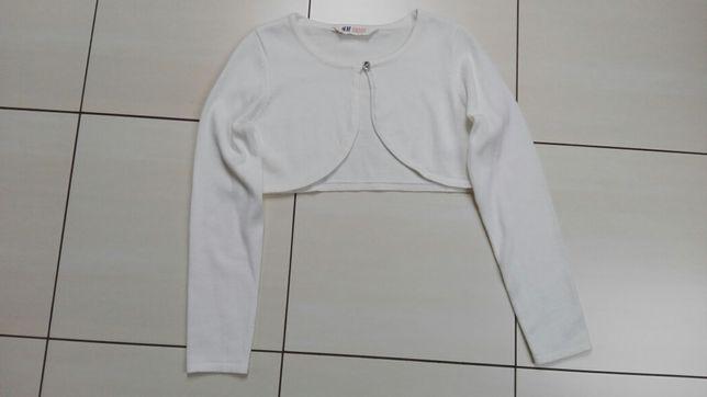 Krótkie bolerko białe /ecru H&M