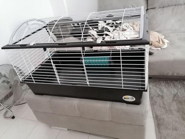 Gaiola para roedor de 1 metro com acessórios