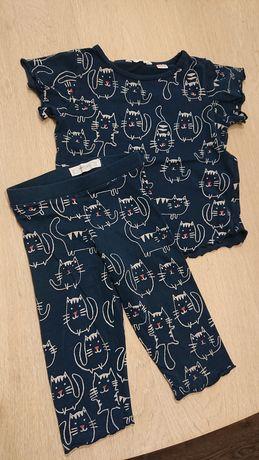 Piżamka piżama mango, stan idealny, r. 116