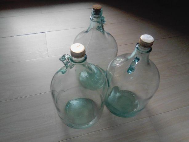 Balony, bukłaki, butle szklane 5 litrowe z uszkiem na wino, soki,wodę