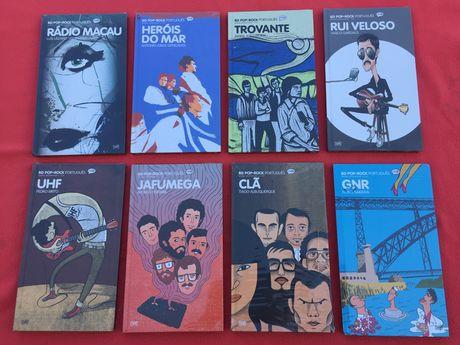 BD Pop Rock Português 8 cd's e 8 livros BD Clã UHF GNR Trovante