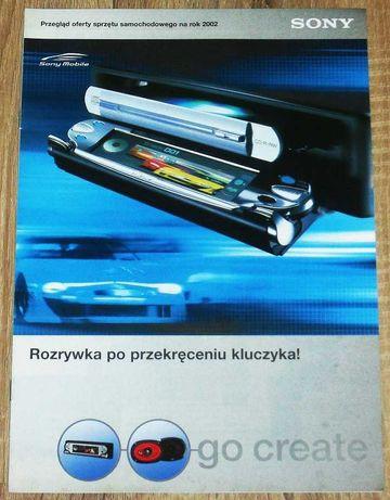 Katalogi sprzętów samochodowych CAR AUDIO HI FI. SONY 2002 r.