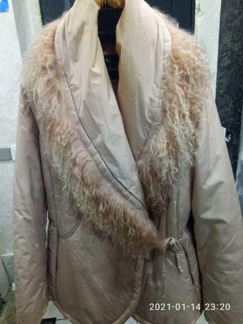 Куртка, воротник лама