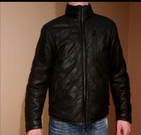 OCHNIK kurtka skóra naturalna jak NOWA gęsi puch zimowa ciepła jesień