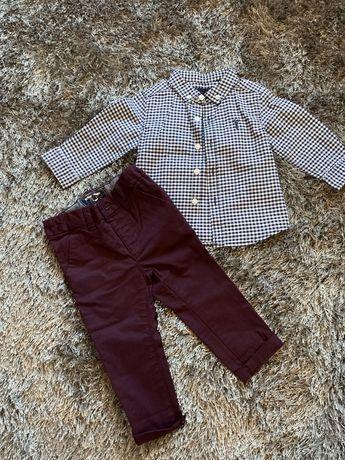 Koszula i spodnie dla chlopca Next 6-9 miesiecy