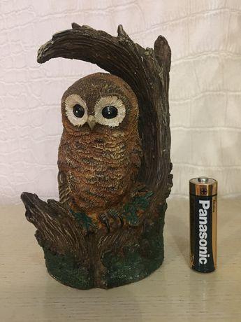 Статуетка фигурка сова на ветке 1991 h c