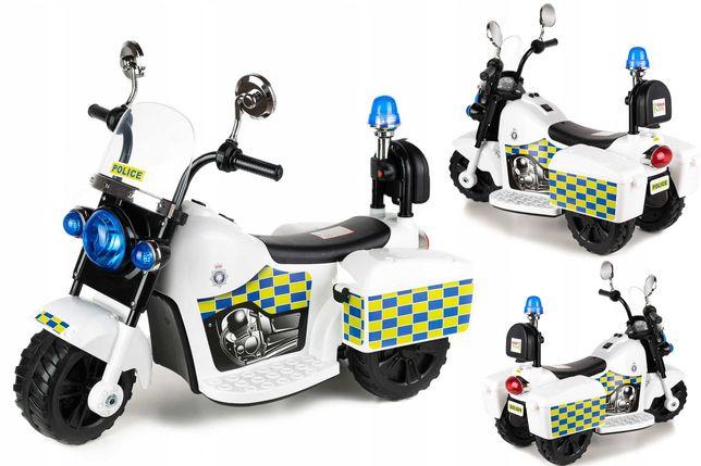 Nowy Motorek Policyjny+Kuferki Motorek na Akumulator Dla Dzieci 1-3Lat