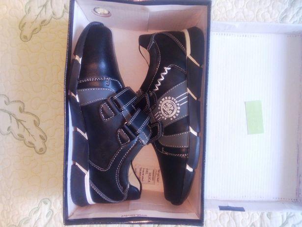 Кроссовки BG, новые, кожа, обувь для мальчика, туфли кожаные, 34 р-р