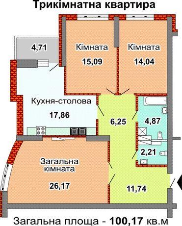 Продам 3-к квартиру Киев, Голосеевский, пр-т Лобановского 150Г