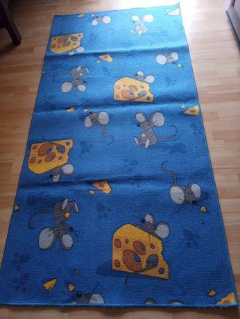 Dywan dziecięcy MYSZKI niebieski 100x200 cm