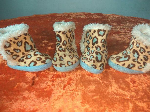 Зимние угги ботиночки для девочек двойни близняшек