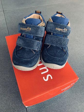 Buty półbuty SUPERFIT rozmiar 21 na rzepy dla chłopca jesień jak nowe