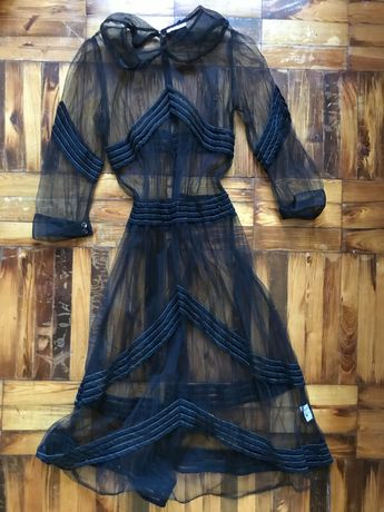 Прозрачное платье туника