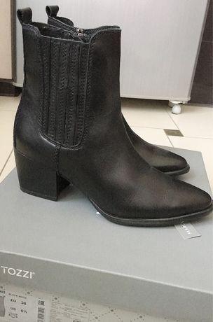 Кожаные ботинки «казаки» MARCO TOZZI 36р.