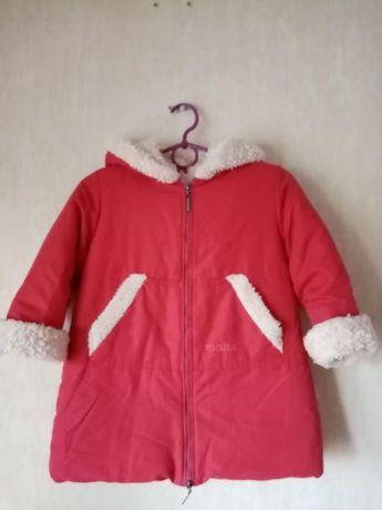 Зимнее пальто для девочки, рост 98, куртка