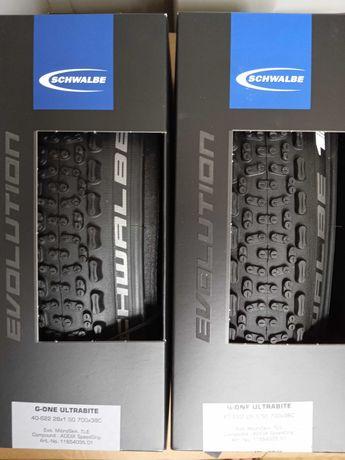 "Пара Schwalbe G-One Ultrabite Evolution 28"" Folding Tyre 700x38c"