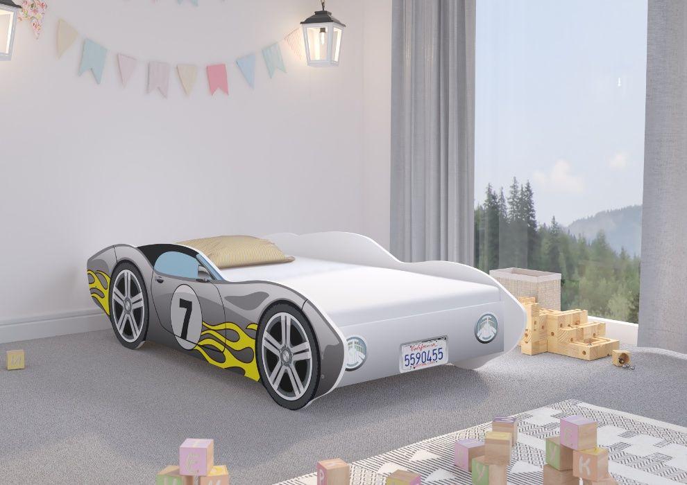 Łóżko dziecięce Auto CORVETTA 160x80 + materac - SAMOCHÓD ! Poznań - image 1