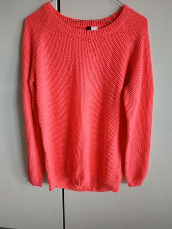 Neonowy sweter H&M