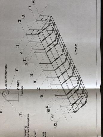 Konstrukcja hala stal ocynk 6,5x4,5x22 wiata garaż esab fronius
