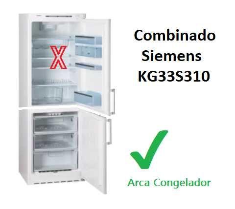 Arca Congeladora de Siemens KG33S310 (Arca OK, Frigorifico avariado)