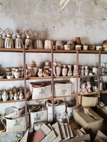 Lote de Artesanato de loiça em porcelana e barro