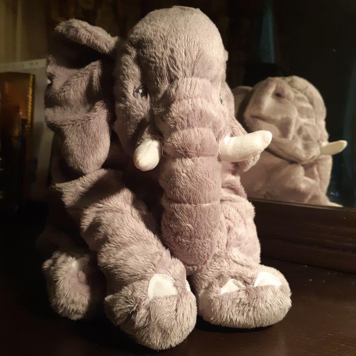 Слон JÄTTESTOR ЙЭТТЕСТОР  Мягкая игрушка, слон/серый Киев - изображение 1