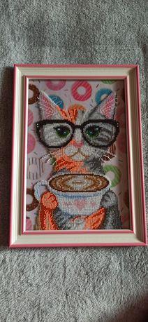 Вышивка бисером Кот