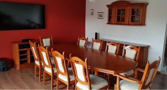 Komplet stół, krzesła, komoda, witryna, szafka, stolik Bydgoskie Meble