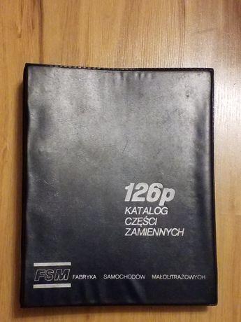FIAT 126P oryginalny katalog części zamiennych A4 w segregatorze PRL