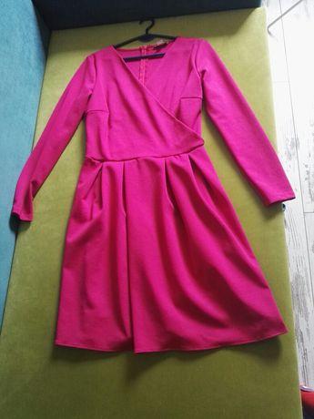Fuksjowa sukienka rozmiar L