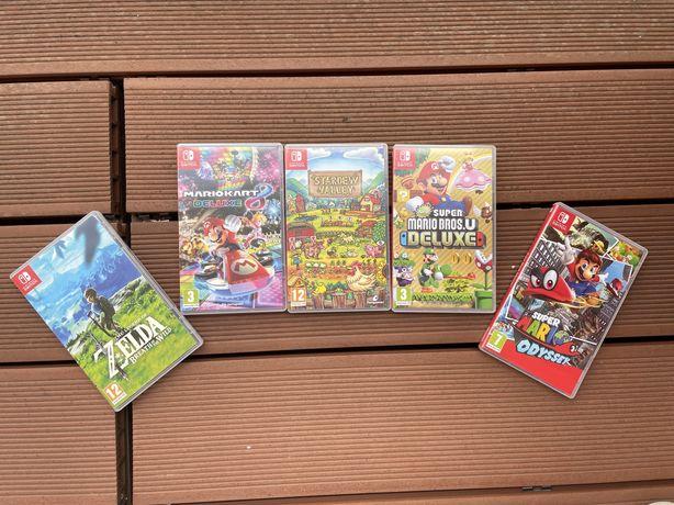 5 JOGOS NINTENDO SWITCH   Legend of Zelda, Super Mario Odyssey, Mario